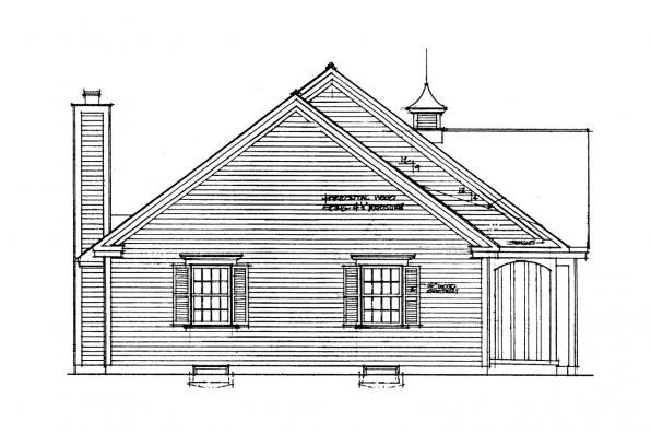 Country House Plan - Glenwood 42-015 - Left Elevation