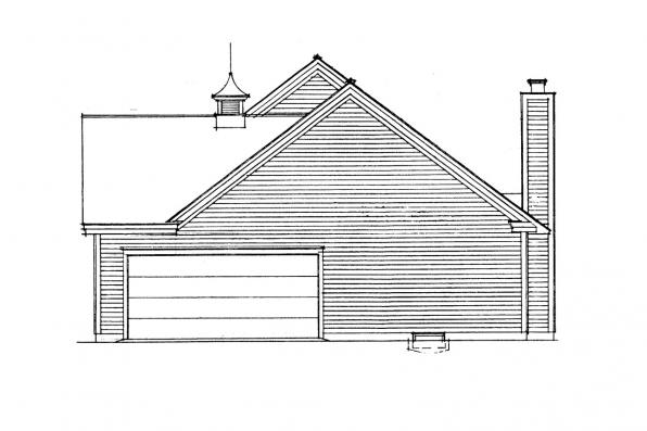 Country House Plan - Glenwood 42-015 - Right Elevation