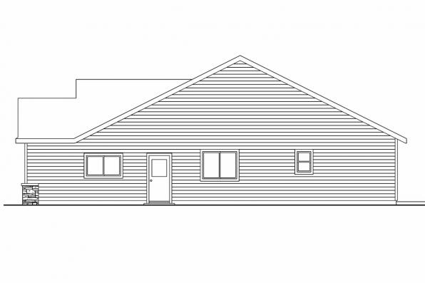 Country House Plan - Granbury 30-662 - Right Elevation