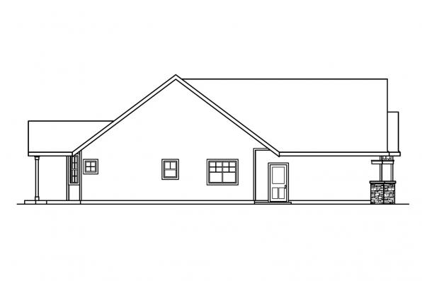 Country House Plan - Heartfield 30-400 - Left Elevation
