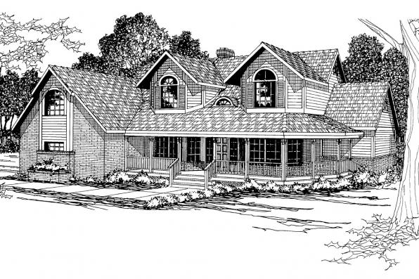 Country House Plan - Heartridge 10-250 - Front Elevation