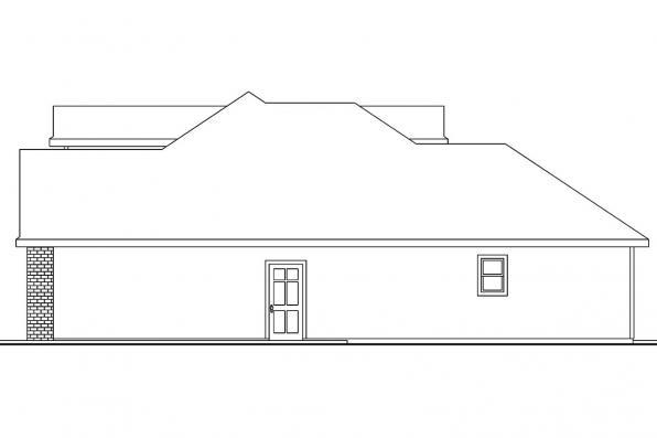 Country House Plan - Hennebery 30-520 - Right Elevation