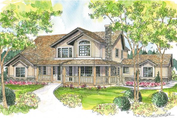 Country House Plan - Hilyard 10-408 - Front Elevation