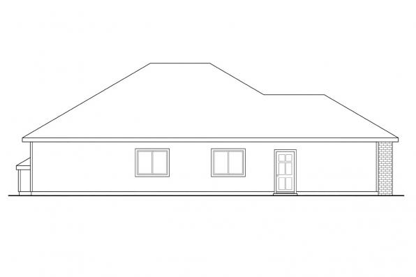 Country House Plan - Holly 30-115 - Left Elevation
