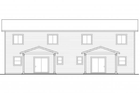 Country House Plan - Kennewick 60-037 - Rear Elevation