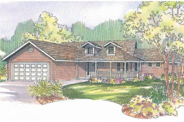Country House Plan - Kennison 30-377 - Front Elevation