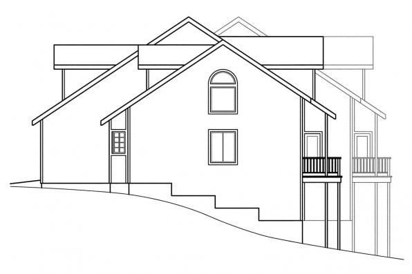 Country House Plan - Kirkwood 60-013 - Left Elevation