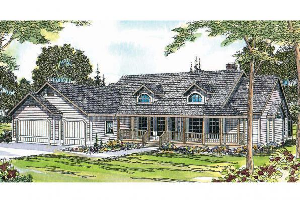 Country House Plan - Lasson 10-203 - Front Elevation