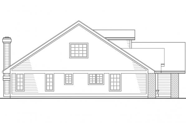 Country House Plan - Maderas 10-012 - Left Elevation