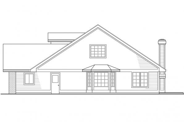 Country House Plan - Maderas 10-012 - Right Elevation