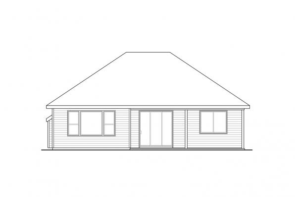 Country House Plan - Manzanita 31-073 - Rear Elevation