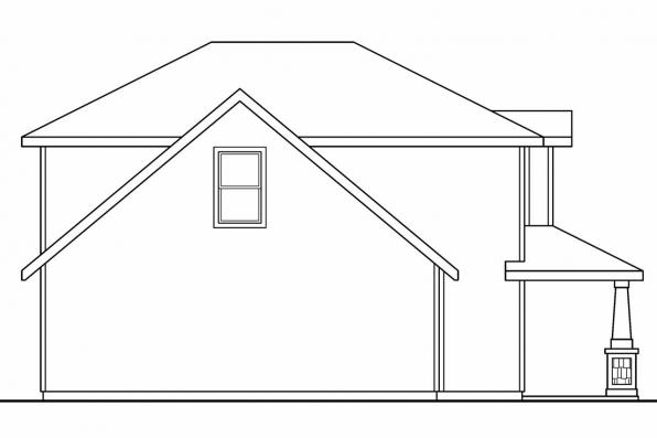 Country House Plan - Molalla 30-685 - Left Elevation