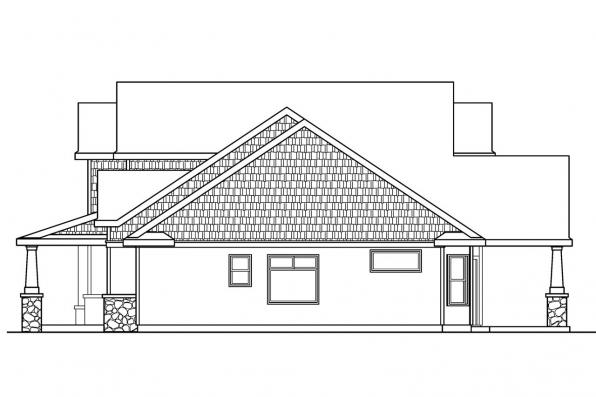 Country House Plan - Montego 30-612 - Right Elevation