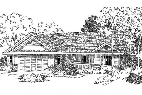 Country House Plan - Morely 30-266 - Front Elevation