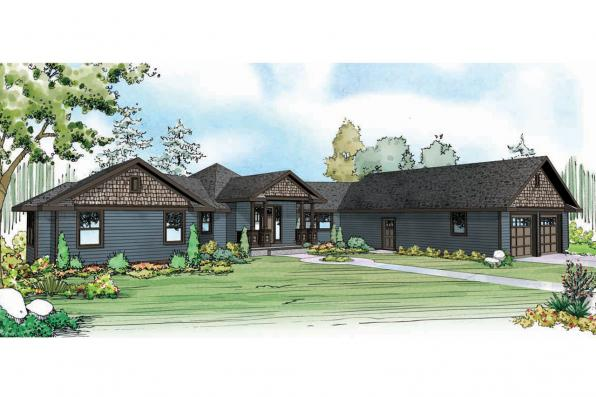 Country House Plan - Mountain View 10-558 - Front Elevation