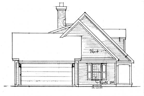 Country House Plan - Namskaket 42-004 - Left Elevation