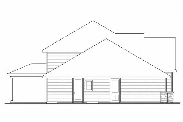 Country House Plan - Oakridge 30-761 - Left Elevation