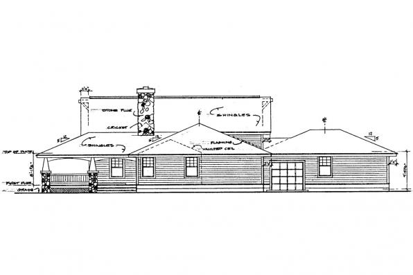 Country House Plan - Palo Verde 41-015 - Right Elevation