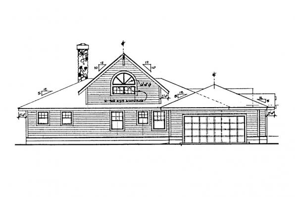 Country House Plan - Palo Verde 41-015 - Rear Elevation