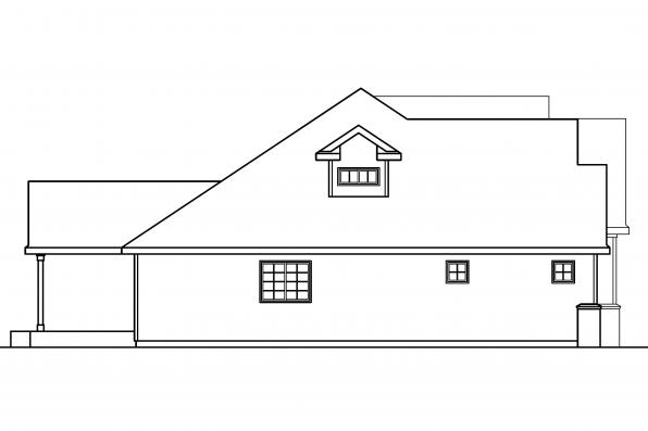 Country House Plan - Remmington 30-460 - Left Elevation