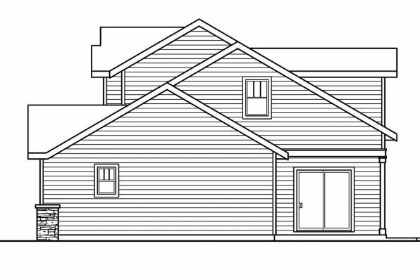 Country House Plan - Rockport 30-707 - Right Elevation