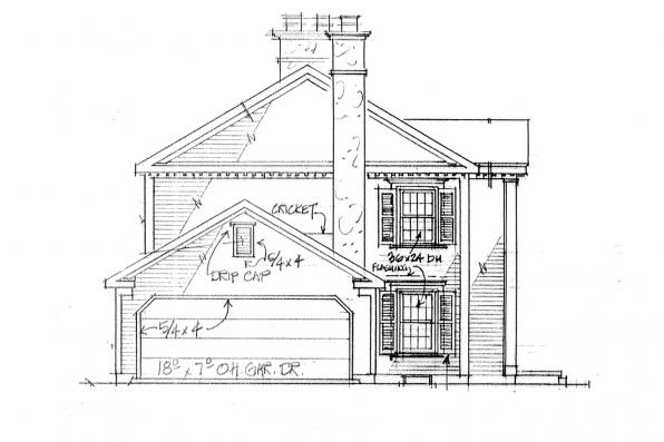 Country House Plan - Rossford 42-006 - Left Elevation