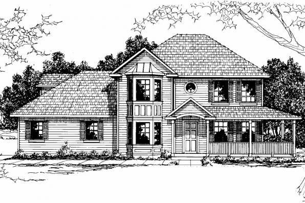 Country House Plan - Sedgewicke 30-094 - Front Elevation