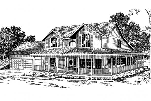Country House Plan - Shelburn 30-035 - Front Elevation