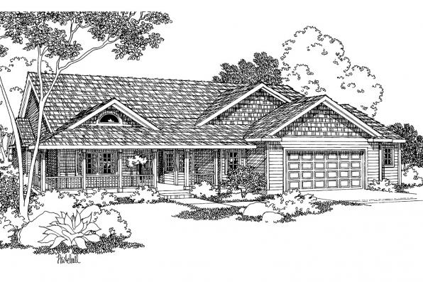 Country House Plan - Shreveport 30-231 - Front Elevation