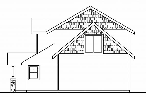 Country House Plan - Stapleton 30-478 - Right Elevation