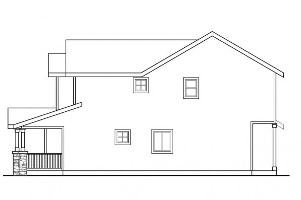 Country House Plan - Waycross 60-018 - Right Elevation