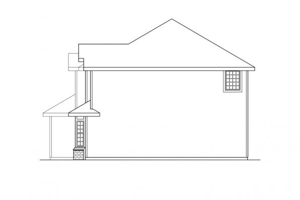 Country House Plan - Westhaven 30-173 - Right Elevation