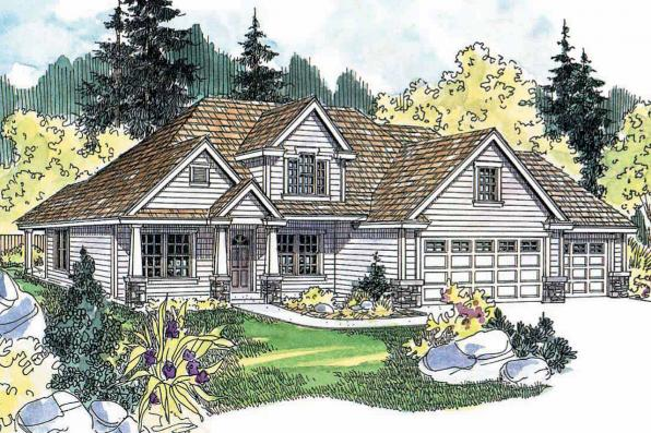 Country House Plan - Whitehaven 30-431 - Front Elevation