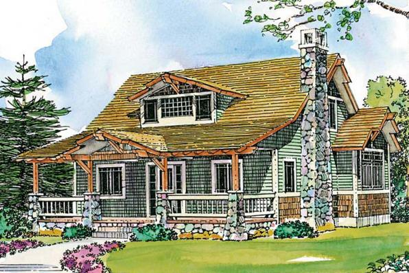 Craftsman House Plan - Absecon 41-011 - Front Elevation