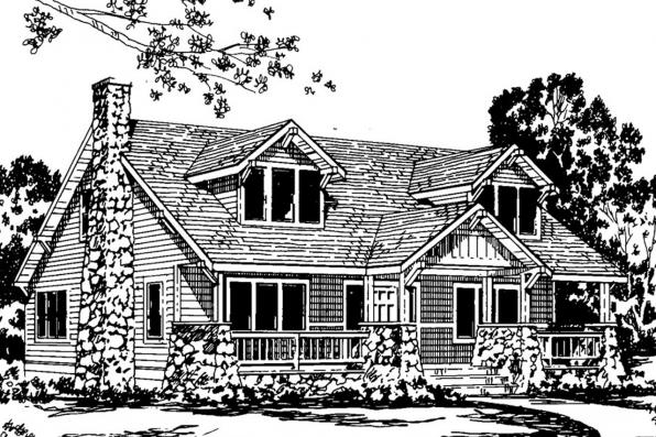 Craftsman House Plan - Alhambra 41-001 - Front Elevation