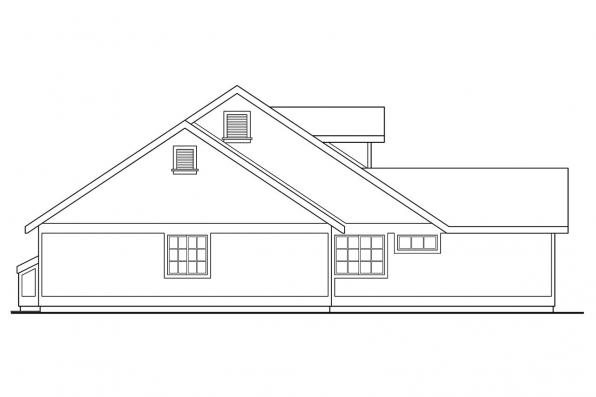 Craftsman House Plan - Ann Arbor 10-146 - Left Elevation