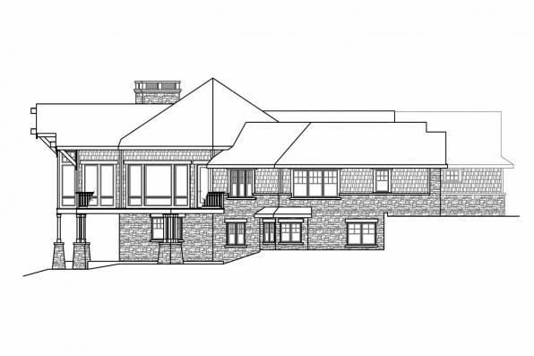 Craftsman House Plan - Barrett 30-773 - Left Elevation