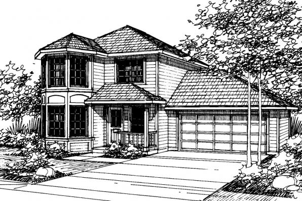 Craftsman House Plan - Baywood 30-118 - Front Elevation