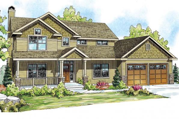 Craftsman House Plan - Belknap 30-771 - Front Elevation
