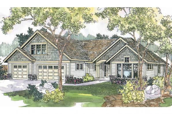 Craftsman House Plan - Cauldwell 30-509 - Front Elevation
