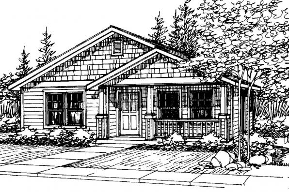 Craftsman House Plan - Cleveland 30-105 - Front Elevation