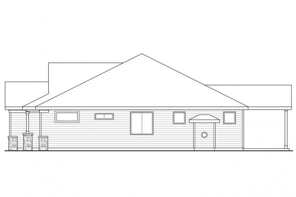 Craftsman House Plan - Dahlia 31-041 - Right Elevation