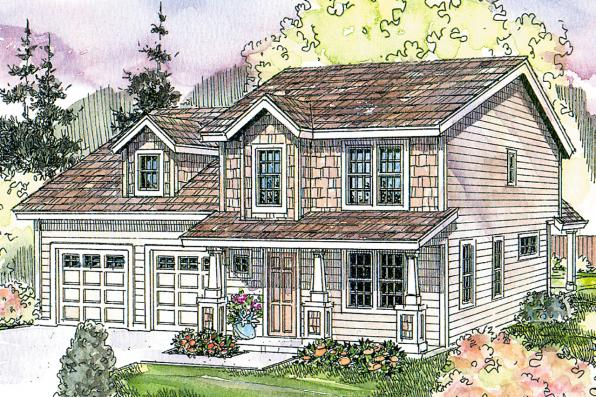 Craftsman House Plan - Elkridge 30-529 - Front Elevation