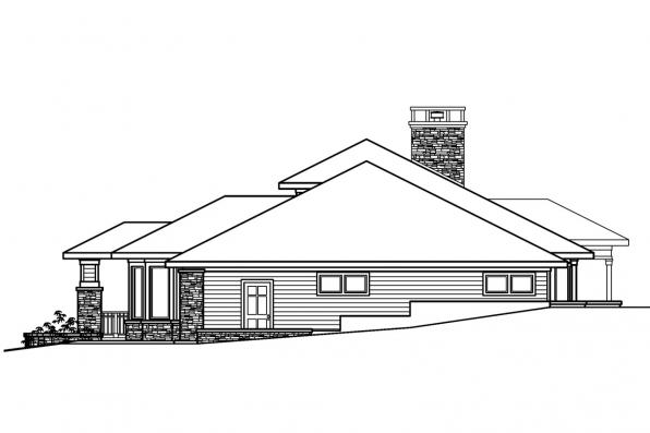 Craftsman House Plan - Elmhurst 30-452 - Right Elevation
