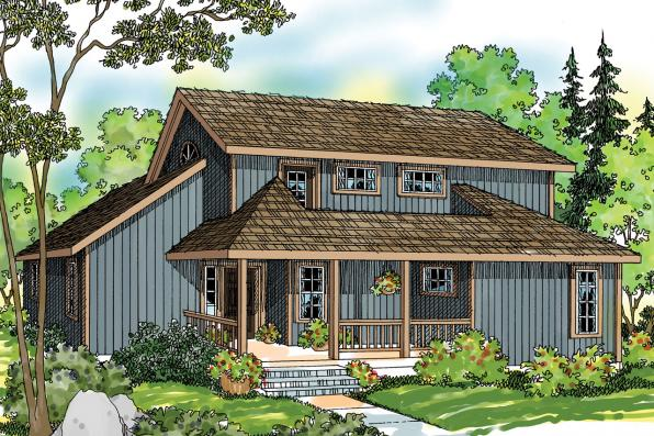Craftsman House Plan - Elsberry 30-265 - Front Elevation