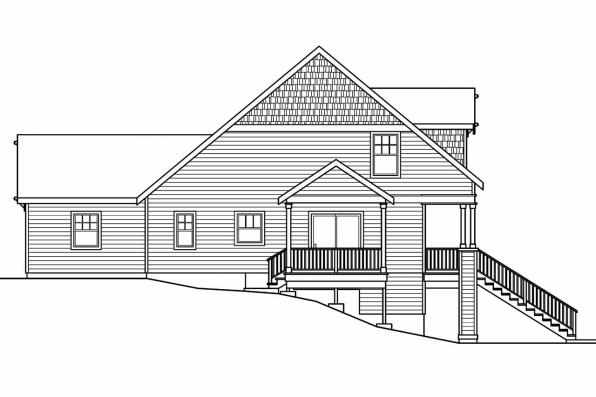 Craftsman House Plan - Fillmore 30-589 - Left Elevation