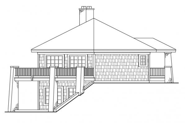 Craftsman House Plan - Grandview 10-249 - Left Elevation