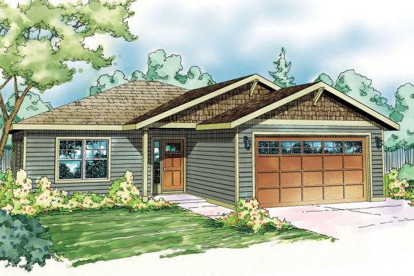 Craftsman House Plan - Harlequin 30-759 - Front Elevation