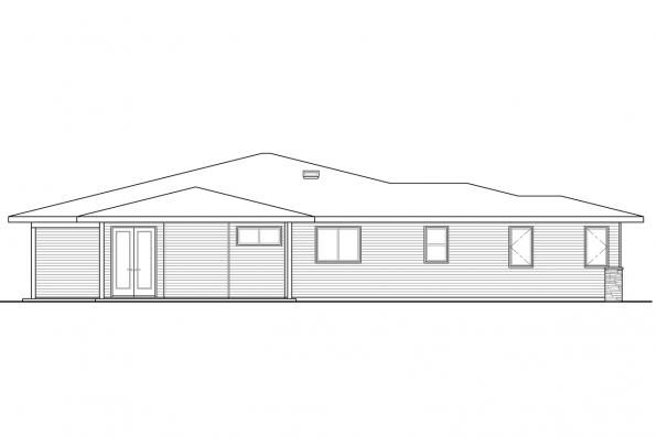 Craftsman House Plan - Juniper 30-964 - Left Elevation