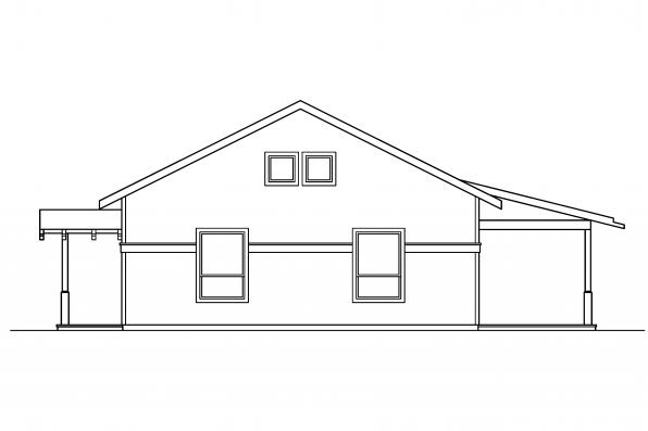 Craftsman House Plan - Kent 30-498 - Left Elevation